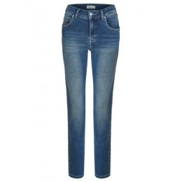 Straight-Jeans im Used-Look Herrlicher Damen Straight Fit Jeans Angels Blau Classic GREUPAO